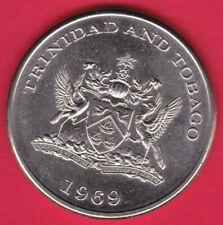 R* TRINIDAD & TOBAGO 1 DOLLAR 1969 FAO XF+ DETAILS #22696