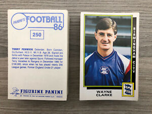Panini Football 86 Stickers No's 1 - 299 Pick and Choose your Stickers