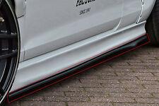 Cup 2 retrasadas faldones sideskirts de ABS para VW Golf GTI 7 GTD