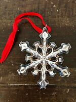 Gorham Silverplate Snowflake Christmas Ornament 1980 With Pouch