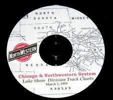 Chicago & Northwestern RR 1959 Lake Shore Division Track Chart PDF Pages on DVD