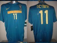 Brazil NEYMAR Adult XL BNWT Nike Football Soccer Shirt Jersey Brasil Barcelona