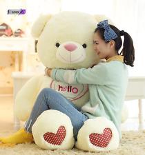 NEW Giant White Teddy Bear - Big Huge Kids Stuffed Animal LARGE Soft Plush Toy