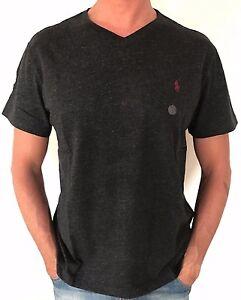 Polo Ralph Lauren Mens Designer Cotton Classic Fit V Neck T Shirt Black S