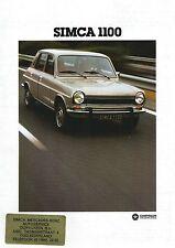 Simca 1100 • 1978 • Brochure Prospekt • Dutch • GOOD