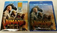 JUMANJI THE NEXT LEVEL BLU-RAY + DVD + DIGITAL Brand New & Sealed USA FAST SHIP