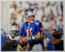 Drew Bledsoe Signed New England Patriots 8x10 Metallic Photo 4x Pro Bowl RAD