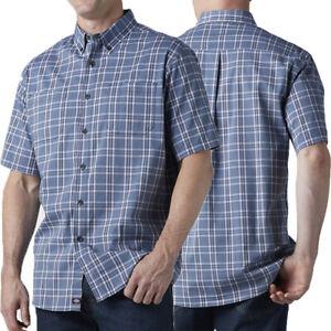 Dickies Shirts Mens Flex Woven Plaid Shirt Short Sleeve Button Down WS551