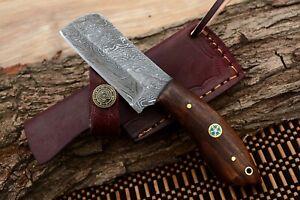 MH KNIVES CUSTOM HANDMADE DAMASCUS STEEL FULL TANG HUNTING/SKINNER KNIFE MH-310F