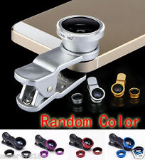 3 in 1 UNIVERSAL Clip On FISHEYE Wide Angle Macro Lens kit for Cell Phone i phon