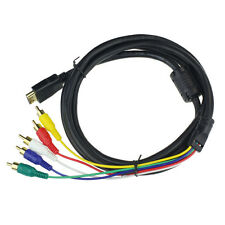 HDMI Male to 5 RCA RGB Audio Video AV Component Cable Adapter For HDTV DVD 1080P