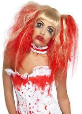 Blutige Zombie Horror Perücke blond-rot NEU - Karneval Fasching Perücke Haare