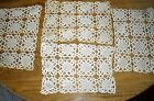 Lacey Crocheted Placemats Table Scarf Scarves ~ Set of 4 ~