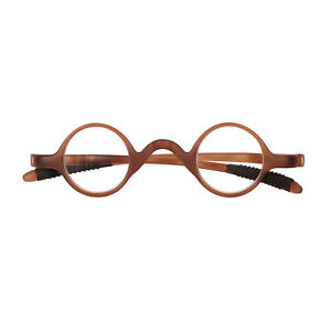 Size 32mm Small Round Black TR-90 Reading Glasses Eyeglass Frame +1.5 +2 +2.5 +3
