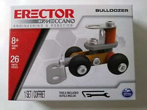 ERECTOR BY MECCANO BULLDOZER 26 PARTS AND 2 TOOLS FOR AGES 8+