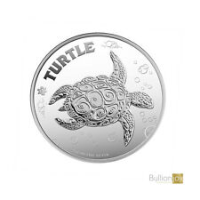 2019 Hawkesbill Turtle Silver Coin New Zealand 1 oz Silver Coin in capsule New!