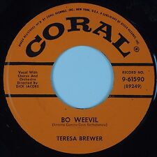 TERESA BREWER: Bo Weevil / A Tear Fell CORAL USA Orig 45