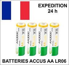 4 piles rechargeables BATTERIES ACCU LR06 AA 3000 mAh Neuves