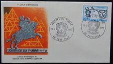 95X: Enveloppe PREMIER JOUR FDC 1977 (n°1927) Journée du Timbre