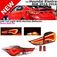 For Hyundai Elantra Sedan 2014-2016 LED Style Rear Tail Lights Lamps Assembly