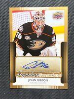 2014-15 UPPER DECK SERIES ONE JOHN GIBSON SIGNATURE SENSATIONS AUTO #SS-JG