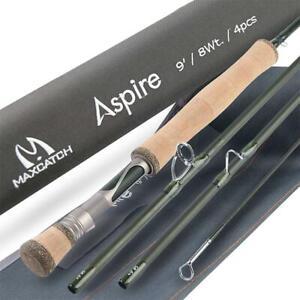 Maxcatch Aspire Fly Fishing Rod 40T Carbon Fiber,4pcs, 5/6/8 wt