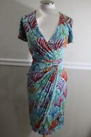 NWT Issa London Women's Jersey Ice Viscose Wrap Dress Size 4 (900
