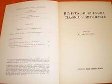 rivista di cultura classica e medievale 1,72