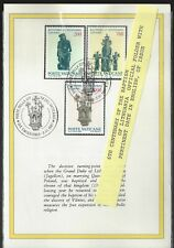 Vatican 1987 Lithuenia Issue Booklett Fdc