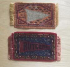 "New listing Vintage University Tobacco Felts - Rutgers & Columbia - 4 1/4"" x 2 1/4"""