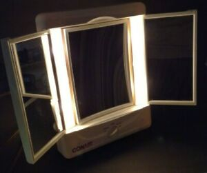 Conair Illumina Lighted Makeup Mirror Day Office Home Evening Light Settings