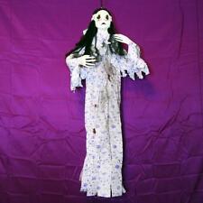 BLOODY EYES LIGHT UP~GIRL/DOLL IN PAJAMAS~Hanging Halloween Prop Decoration