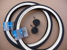 TYRES Pair Schwalbe 20x1.75 WHITE WALL Road Cruiser Puncture resistant Folding S