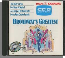Karaoke CD+G - Broadway's Greatest - New 4 Song RCA CD! The Party's Over