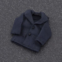 Cute 1:12 Scale Dollhouse Miniature Clothes Jacket Tops Coat Dark Blue Gift New