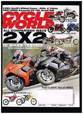 CYCLE WORLD MARCH 2008 DUCATI 900SS DUCATI 848 HONDA CBR600RR vs YAMAHA YZF-R6