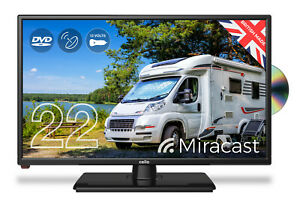 "CELLO 22"" inch TRAVELLER 12v volt TV DVD FREEVIEW HD MIRACAST CARAVAN MOTORHOME"