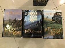 Jrr Tolkien Lord Of The Rings Slipcase Book Set 1st Print 2001 3 Volume Set Hc