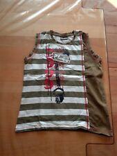 T Shirt Shirt Pulli von Pampolina PL.05 in Größe 128 in braun weiß geringelt