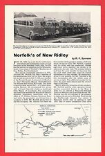 Buses Magazine Extract ~ Norfolks of New Ridley - History & Fleet List - 1965
