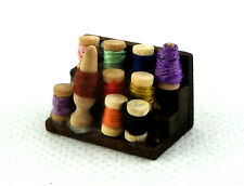 Dolls House Miniature Haberdashery Sewing Accessory Box of Cotton Reels Threads