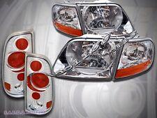 1997-03 FORD F150 PICKUP STYLESIDE HEADLIGHTS + CORNER LIGHTS + TAIL LIGHTS