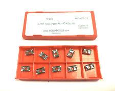 10 Wendeplatten inserts APKT 1003 PDR- AL  HC-K05-15  ALU von SEDOTOOLS  Neu Y42