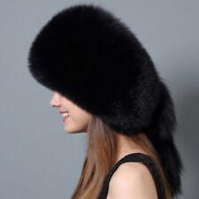 Dyed Fox Fur Hat with Rex Rabbit Fur Top