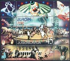 Yugoslavia 2002 Mi BL 53 ** Union Europa Cept Circus Zirkus Clown Horse Bicycle