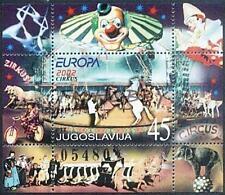 Yugoslavia 2002 Mi BL 53 ** Union Europa Cept Circus Zirkus Clown Horse Bicycle