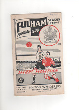1960-61 FULHAM v BOLTON WANDERERS 11th March 1961 Division 1