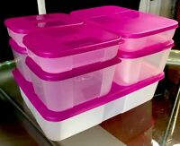 NEW VINTAGE 14 pc TUPPERWARE Freezer Mates *Starter Set* 7 Containers & 7 Seals