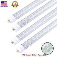 T8 Double Side 4 Rows V Shaped LED Tube 8FT Shop Light 8 Foot FA8 90W Tube Light