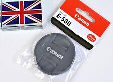 BNIB 100% GENUINE CANON EF FRONT LENS CAP E-58II 58mm SNAP ON !SALE PRICE!